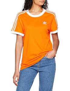 adidas 3-Stripes T-Shirt Femme, Orange, FR : S (Taille Fabricant : 36)