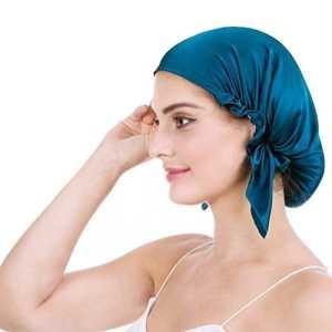 Bonnet de Nuit en 100% Soie Chapeau Bonnet De Sommeil 19 Momme Femme Bonnet Coiffure Soin Protege Cheveux