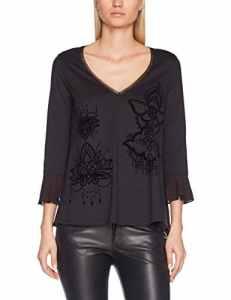 Desigual TS_MASI, T-Shirt Femme, Noir (Negro 2000), Large