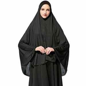 Hougood Hijab Femme Musulmane Dubai Long Hijabs Foulard Écharpes de couleur unie Arabie Islamique Ladies Wrap Hijab Turban Long corps de châles de Hijab Vêtements Musulmans Robe de prière