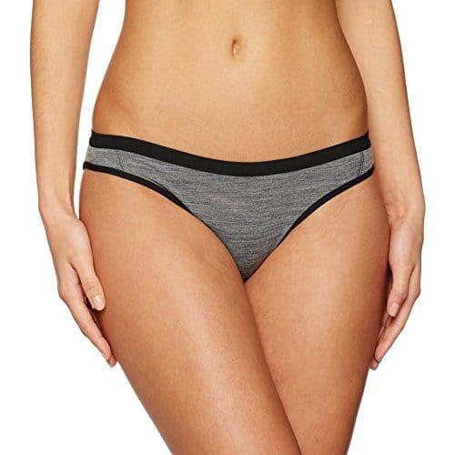 Icebreaker Siren Bikini Femme, Gritstone HTHR/Black, FR (Taille Fabricant : XS)