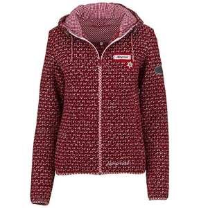 Mandorf Veste de marche à capuche en tricot – rouge – 36
