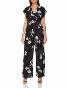 New Look Stencil Floral, Combinaison Femme, Noir (Black Pattern 9), 46 (Taille Fabricant: 18)