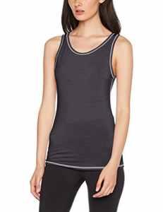 Skiny Active Wool Tank Top, Vêtements de Corps de Sport Femme, Noir (Anthracite Melange 4676), 42