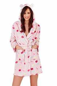 Femmes Loungeable Macaron Combinaison ou Robes de Chambre de Luxe pour Femmes Pyjama – Lilas – Court Peignoir, Taille L – EU 44-46