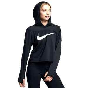 Nike 933195-010 Sweat-Shirt à Capuche Femme, Noir/Blanc, FR : S (Taille Fabricant : S)