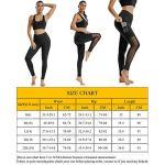 BYBH Legging de Course à Pied pour Femme – Pantalon Slimming en Noir & Maille & Poche Conçu 16-18
