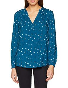 Esprit 108ee1f006, Blouse Femme, Multicolore (Dark Teal Green 375), 44 (Taille Fabricant: 42)