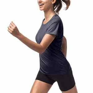 LAPASA T-Shirt Sport Femme Manches Courtes – Running Fitness Anti-Odeur Antibactérien Ultra-Respirant Thermorégulateur L11