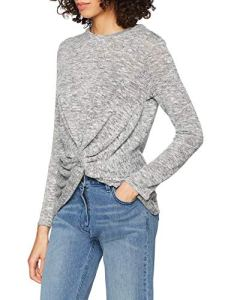 New Look Loose Knit Twist, T-Shirt Femme, Gris (Dark Grey), 40 (Taille Fabricant: 12)