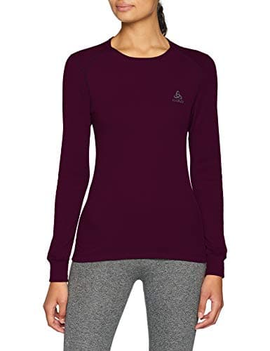 Odlo T- Shirt ML Active Warm Originals Manches Longues Femme, Pickled Beet, FR : L (Taille Fabricant : L)