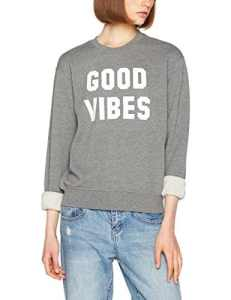 Replay W3971 .000.21842, Sweat-Shirt Femme, Gris (Melange Grey M14), Medium