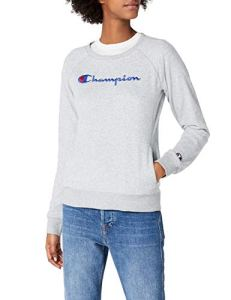 Champion Crewneck Sweatshirt-Institutionals, Sweat-Shirt Femme, Gris (Oxgm), Large (Taille Fabricant: L)