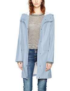 ICHI TAZI JA, Manteau imperméable Femme, Bleu (Ashley Blue 14123), 42 (Taille Fabricant: L)