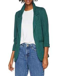 New Look Stretch Blazer, Veste de Costume Femme, (Dark Green), 46