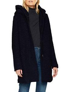 ONLY NOS Onlsedona Boucle Wool Coat OTW Noos, Manteau Femme, Bleu (Night Sky Detail:Melange), 40 (Taille Fabricant: Medium)