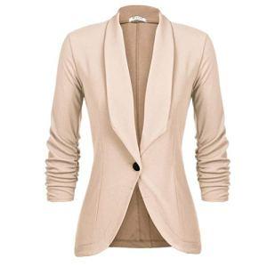 UNibelle Blazer sous Basic-Look Un Bouton Costume Femme