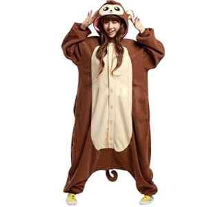 Venaster Cosplay Onesies Pyjamas Babouin Adulte Unisexe Anime Deguisement Animaux Siamois Romper Pajamas Vêtements