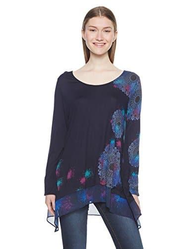 Desigual TS_bolonia, T-Shirt Femme, (Navy 5000), Small