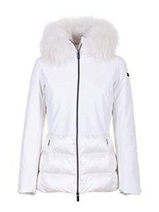 DR Rrd – Manteau imperméable – Doudoune – Manches Longues – Femme Blanc Blanc 40
