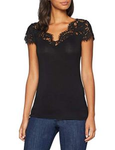 Morgan 182-DOVE.N, T-Shirt Femme, (Noir 100), Small (Taille Fabricant: TS)