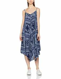 Pepe Jeans Anais, Robe Femme, Bleu (Ocean), FR: 38 (Taille Fabricant: S)