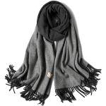 SHFJKA Femme Foulard xxl Automne Hiver Écharpe Cachemire Multicolore longue châle Épaissi Chaud d'hiver avec Glands Décoratifs