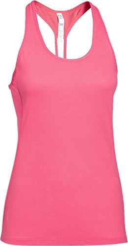 Under Armour Fly-by Femmes Débardeur en Maille filetée Stretch XL Rose – Pink – Pink Shock