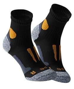 Vincent Creation VCA – Lot de 2 paires de chaussettes de course à pied – haute performance – rembourrée et élastiquée – pointe remaillée main