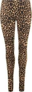 WearAll – Legging avec imprimé léopard – Leggings – Femmes – Brun – 40-42