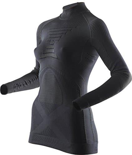 X-Bionic I020219 T-Shirt à Manches Longues avec col Montant Femme, Noir, FR : L (Taille Fabricant : L/XL)