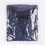 BMJL Top Dentelle Femme Mode Boheme Chemise Noir col v Polyester Top Casual (S=EU 38, Bleu)