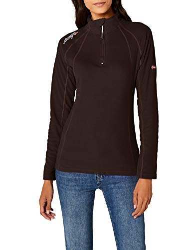 Geographical Norway Talmud Lady Half Zip, Pull sans Manche Femme, Marron Dark Brown, X-Large