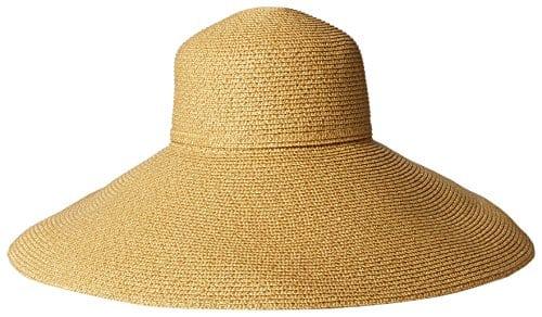 Gottex Femme Belladonna Large Bord Pliable Chapeau de Soleil, réglage de Protection Solaire UPF 50pour Max – Or – Taille Unique