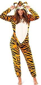 Grenouillère pour femme combinaison pyjama et détente femmes oreilles 3D – Orange – 42