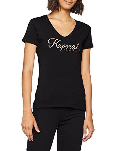 Kaporal Tine, T-Shirt Femme, Noir Black, Taille Fabricant: L