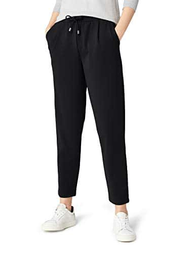 MERAKI Paula Comfort Pantalon Noir Black, W26 (Taille Fabricant: X-Small)
