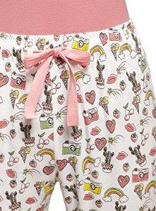 oodji Ultra Femme Pantalon d'Intérieur Imprimé, Multicolore, FR 36 / XS