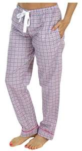 PajamaMania Pantalon de Pyjama Vêtement de Nuit en Flanelle pour Femmes, Cercles Rose (PMF1001-2037-UK-MED)