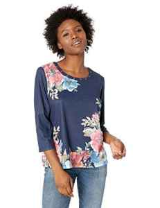 Alfred Dunner Femme 28350NF T-Shirt – Multicolore – Taille L