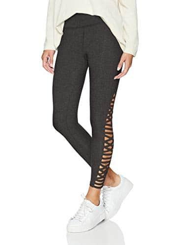 Betsey Johnson Femme ENX4P25 Leggings – Gris – Taille L