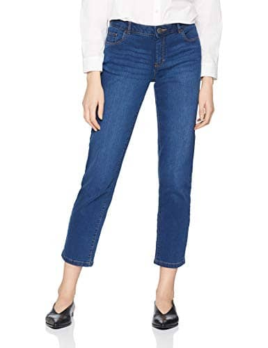 Dorothy Perkins Washed Ashley Straight-Short, Jean Droit Femme, Violet (Indigo 170), 46 (Taille Fabricant: 18)
