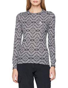 Odlo T Shirt ML Active Warm Kinship Manches Longues Femme, Mélange Gris, FR : L (Taille Fabricant : L)