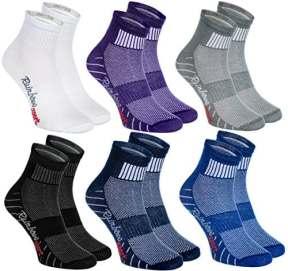6 paires de Chaussettes Modernes, Originales et Sportives dans 6 couleurs à la mode. Fabriqués dans l'UE! Tailles 44 45 46 Idéals pour que le Pied Puisse Respirer! Top Qualité! Oeko-Tex!