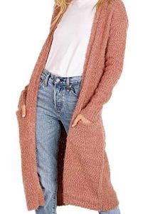 BB Dakota Femme BI406537 Cardigan – Rose – Taille L