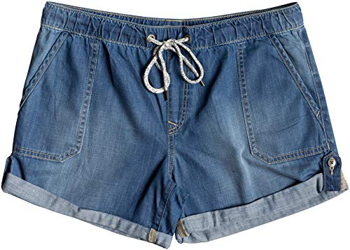 Roxy Arecibo Denim Shorts Femme, Medium Blue, FR : L (Taille Fabricant : Large)