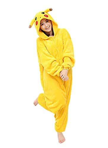 Yimidear® Unisexe Hot Adulte Pyjamas Cosplay Costume d'animal Onesie de nuit de nuit – S – Pikachu