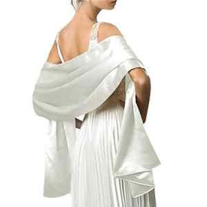 Ai.Moichien Femmes Soyeux Longue Doux Soirée Châle Wrap Étole 180*50cm Pour La Robe De Mariage Demoiselles D'honneur De Mariage De Bal