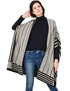 FIND – Spezzia Gblk – Cape Manteau – Femme – Gris (Grey/black) – Taille: S