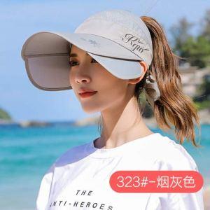 HKHJN Chapeau Pare-Soleil féminin été Version coréenne de la Casquette de Protection Solaire UV en Plein air Cyclisme Grand Chapeau de Soleil Haut Vide Femme